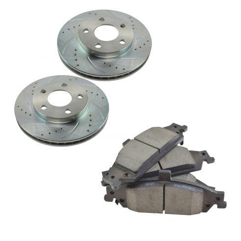 97-05 Malibu, Alero Front Performance Brake Rotor & Ceramic Pad Set