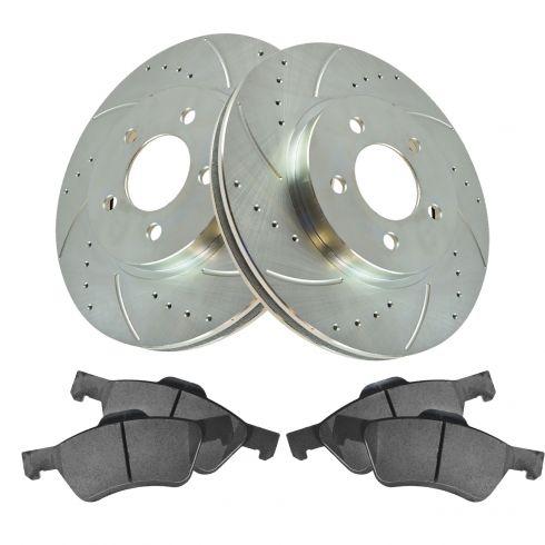 05-11 Escape, Tribute, Mariner Front Performance Brake Rotor & Ceramic Pad Set