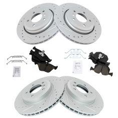 01-06 BMW 330 Front & Rear Performance Brake Rotor & Ceramic Pad Kit