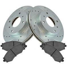 99-01 G20; 93-01 Altima; 00-06 Sentra Front Performance Brake Rotor & Ceramic Pad Set