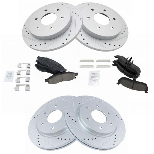 Front and Rear Performance Ceramic Brake Pads For INFINITI QX56 NISSAN ARMADA