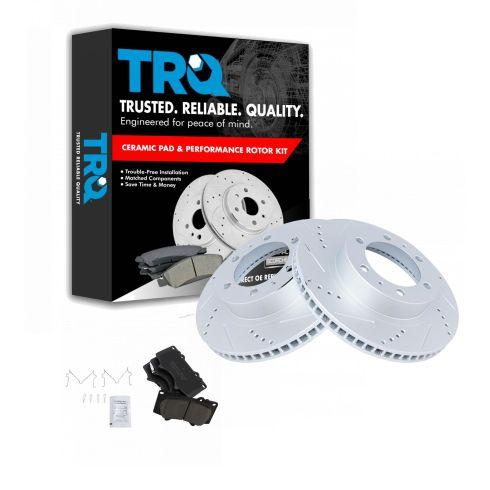 Front Black Drill Slot Brake Rotors /& Ceramic Pads For 4Runner Tacoma 2WD 4WD