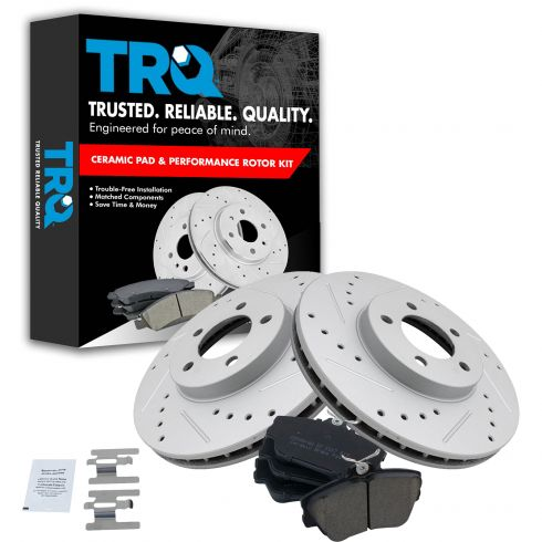 01-07 Taurus; 96-97 Thunderbird Front Performance Brake Rotor & Ceramic Pad Kit