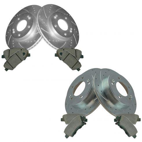 11-14 Elantra Front & Rear Perfromance Brake Rotor & Ceramic Pad Kit