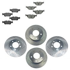 91-99 BMW 3 Seires Front & Rear Performance Brake Rotor & Ceramic Pad Kit