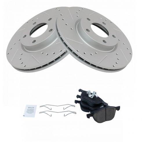 Front 300 mm Brake Disc Rotors And Ceramic Pads For Mazda 3 2.3L 2.5L Mazda 5