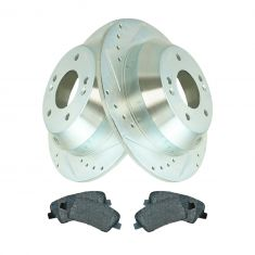 Rear Performance Rotor & Premium Posi Metallic Pad Kit 10-14 Santa Fe,11-14 Sorento