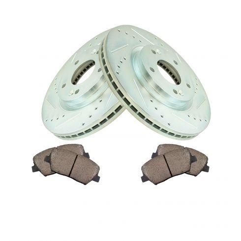 2011 2012 2013 Fits Kia Sorento Rotors Ceramic Pads F+R OE Replacement