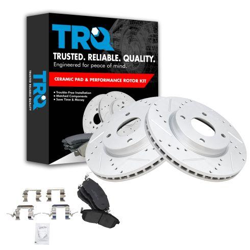 Front Disc Brake Rotor LH /& RH Kit Pair Set of 2 for Nissan Versa New