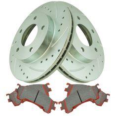 Front Performance Rotor & Premium Posi Ceramic Brake Kit for 93-97 Probe, 94-02 626, 93-97 MX6