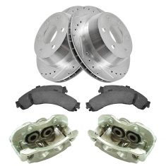 03-06 Silverado 1500 NEW Rear Brake Caliper, Ceramic Pad & Peformance Rotor Kit