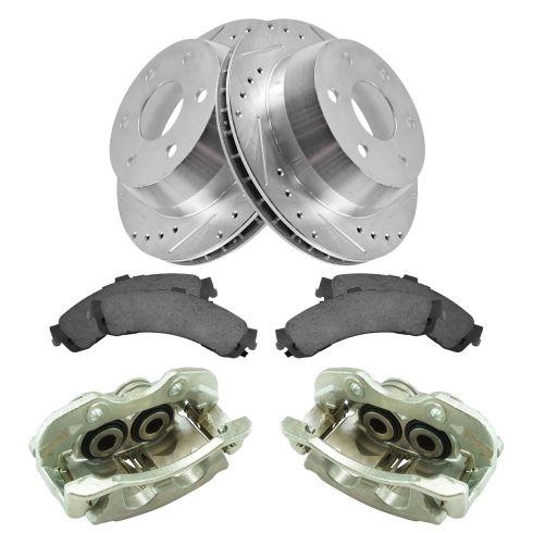 03-06 Silverado 1500 NEW Rear Brake Caliper, Ceramic Pad & Peformance Rotor Kit