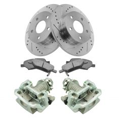05-08 Chevy Cobalt NEW Rear Brake Caliper, Ceramic Pad & Peformance Rotor Kit