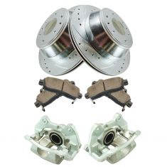 02-09 Trailblazer NEW Rear Brake Caliper, Ceramic Pad & Peformance Rotor Kit