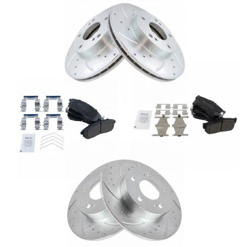 Front 280 mm Brake Rotors and Ceramic Pads Kit For INFINITI I30 NISSAN MAXIMA