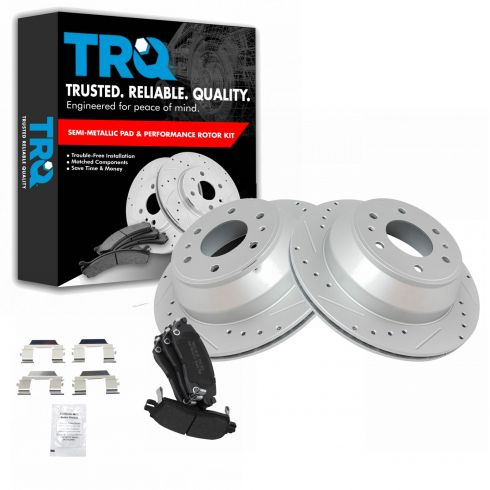 55073 REAR Brake Rotor Pair of 2 Fits 02-09 Chevrolet Trailblazer