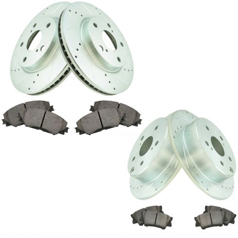 Rear Ceramic Brake Pads For Lexus HS250h Toyota Rav4 Front