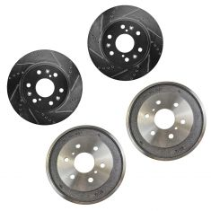 05-08 Chevy Silverado 1500, GMC Sierra 1500 6 Lug Front Performance Rotor & Rear Drum Kit
