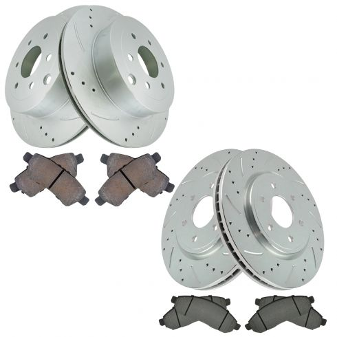 Rear Metallic Disc Brake Pads /& 2 Rotors Set Kit For 05-12 Nissan Pathfinder