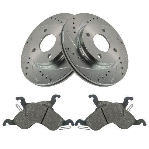 00 04 Focus Exc Svt Front Premium Posi Metallic Brake Pads Performance Rotor
