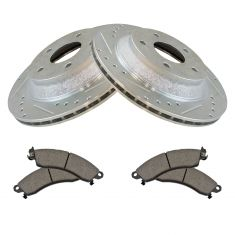 88-96 Corvette Front Posi Ceramic Brake Pad & Performance Rotor Kit