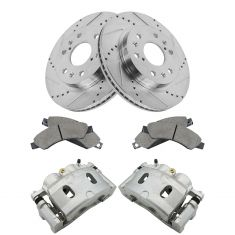 Cadillac GMC Chevrolet Muilti Fit front Brake Caliper, Ceramic Pad & Peformance Rotor Kit