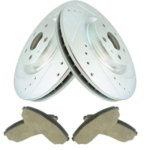 08-14 CTS w/HD Brakes 13.6 Rotors Front Posi Ceramic Pad & Performance Rtr Kt
