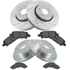 Ininiti SUV Multifit Front & Rear Premiuim Posi Ceramic Brake Pad & Performance Rotor Kit