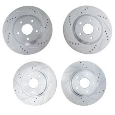Chrysler VW Van Multi Fit Front & Rear Performance Disc Brake Rotor Kit