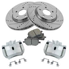 Front And Rear Brake Rotors Ceramic Pads For Chevy Malibu Pontiac G6 Saturn Aura