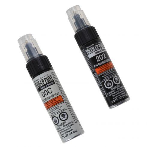 Lexus, Toyota, Scion Multifit Touch-Up Paint Pen - BLACK ONYX - Color Code 202 With clear