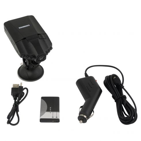 CAR and DRIVER: 1080P Dash Cam w/swivel Scrn, Motion Dtction, Loop/Time Stamp/Night Vision (8GB Inc)