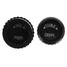 02-12 Buick, Cady, Chevy, GMC, Hummr, Olds Multifit (4 Piece) BLK Radio Knob Replacemnt Set (DORMAN)