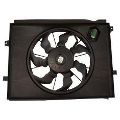 10-11 Kia Soul w/2.0L Radiator Cooling Fan w/Resistor Assembly