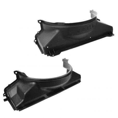 99-07 GM Full Size PU; 00-06 SUV w/4.8L, 5.3L (w/o Rear A/C) Upper & Lower Radiator Fan Shroud PAIR