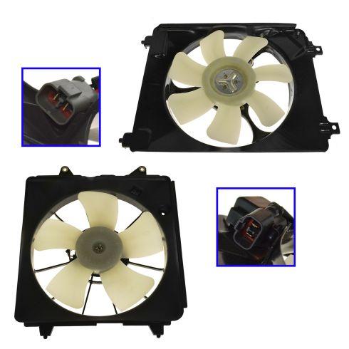06-11 Honda Civic 1.8L w/ AT Radiator & AC Condenser Fan PAIR