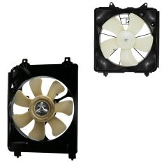 06-11 Honda Civic 1.8L w/ MT Radiator & AC Condenser Fan PAIR