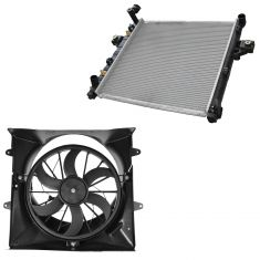 99-03 Jeep Grand Cherokee 4.0L Radiator, Fan Shroud, & 6 Blade Fan (w/o Tow Package) Kit