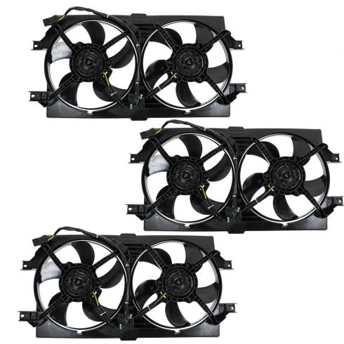 dodge chrysler radiator cooling fan assembly 3 piece set