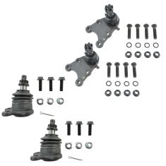 04-12 Colorado; Canyon (w/ torsion bar); 07-08 Isuzu I370 Front Upper & Lower Ball Joint Set of 4