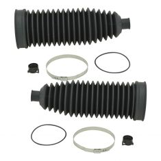 04-10 5 Srs, X3; 02-08 7 Srs; 00-06 X5; 04-05 645Ci; 06-10 650i; 07-08 B7 Rack & Pinion Bellow PAIR