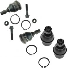 98-11 Ford Ranger, Mazda PU (w/2WD Coil Spring Susp) Front Upper & Lower Balljoint Kit (Set of 4)