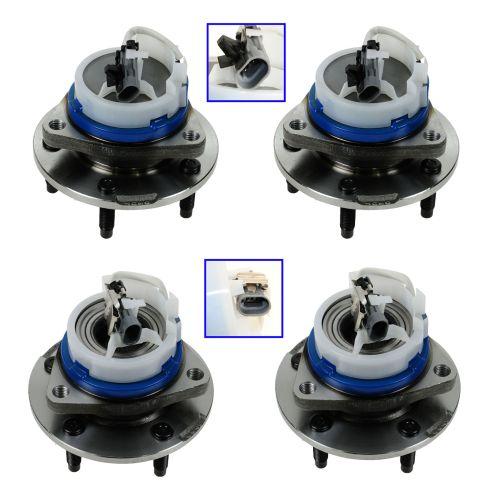 03-07 Cadillac CTS; 05-11 STS Front & Rear Wheel Hub & Bearing Assembly Kit (Set of 4)