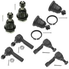 98-04 Frontier; 00-04 Xterra Front Inner Outer Tie Rod & Upper Lower Ball Joint Kit (8 Piece)