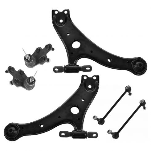 02-03 ES300; 04-06 ES330; 02-06 Camry; 04-08 Solara; 05-12 Avalon Frt Lwr Suspension Kit (Set of 6)
