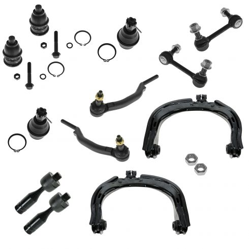 04-07 Ranier; 02-09 Trailblazer Envoy; 02-04 Bravada; 05-07 97X Steering & Suspension Kit (12 Piece)