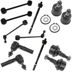 05-10 Jeep Grand Cherokee; 06-10 Commander Front Steering & Suspension Kit (12 Piece)
