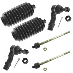 00-03 Mazda Protege; 02-03 Protege5 Front Inner & Outer Tie Rod End w/ Rack Boot Kit (6 Piece)