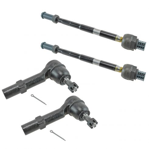 07-14 GM Midsize SUV Front Inner & Outer Tie Rod End Set of 4