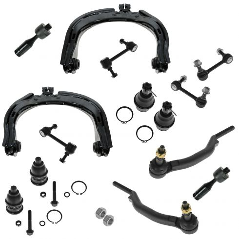 04-07 Ranier; 02-09 Trailblazer Envoy; 02-04 Bravada; 05-07 97X Steering & Suspension Kit (14 Piece)